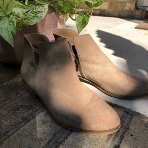Splendid Taupe Suede Ankle Booties